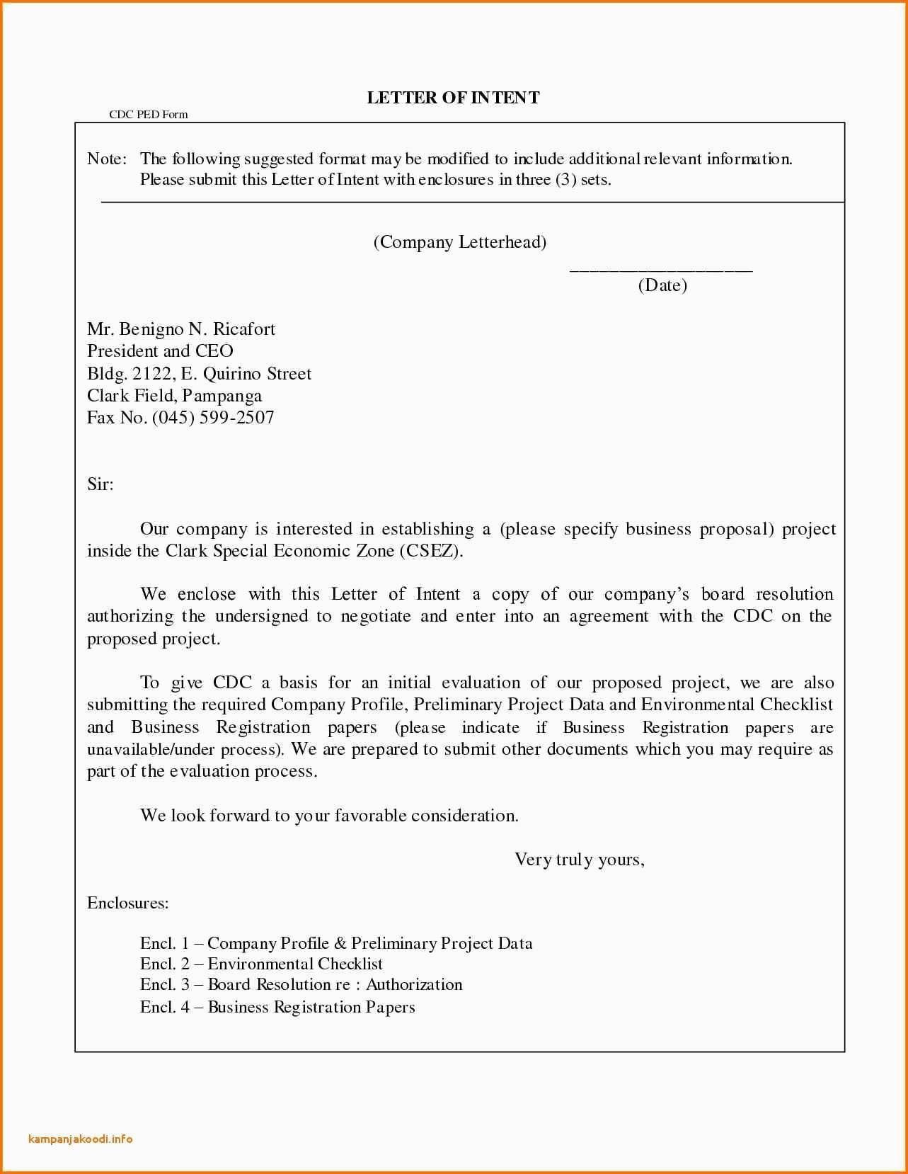 C C Business Letter Sample