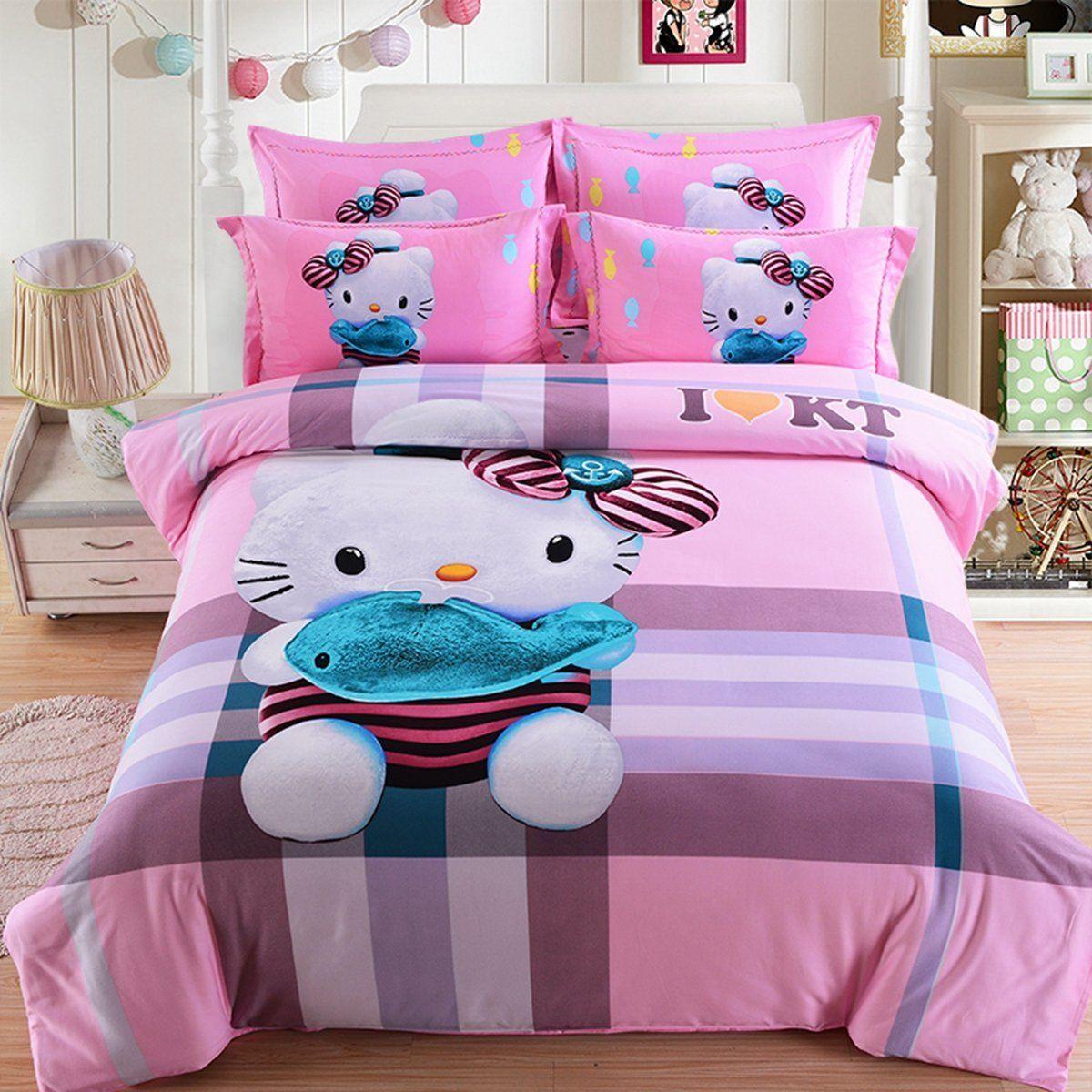 CASA 100 Cotton Brushed Kids bedding Hello Kitty Duvet