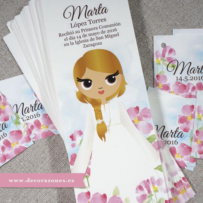 Marca páginas y etiquetas ilustradas con flores de acuarela. www ...