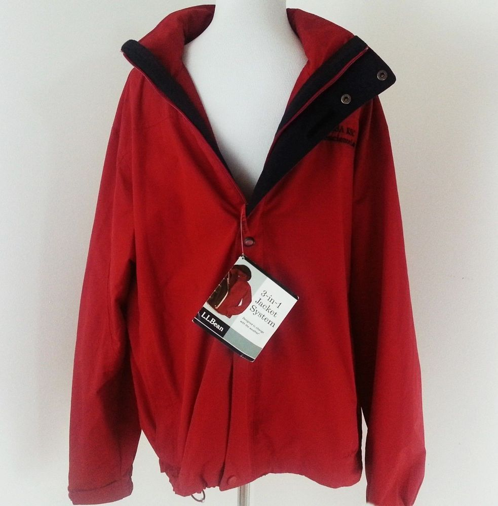 Ll bean jacket size l storm chaser in nasa kennedy space ctr