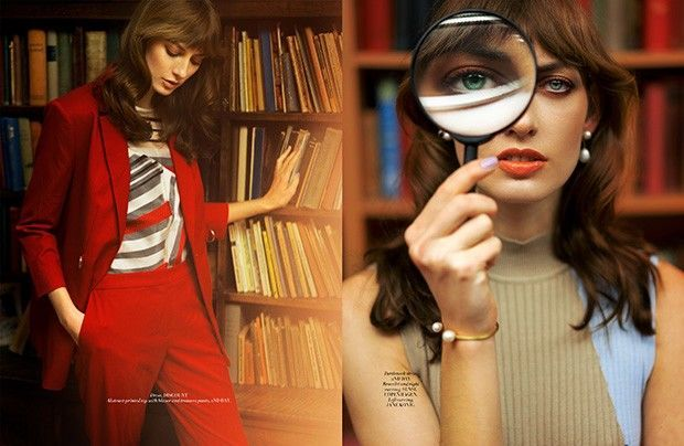 Librarian Fashion  - This librarian fashion story highlights 70s-inspired attire and features fresh face Tatiana at M4 Models. Captured by the lens of photographer Ryan...
