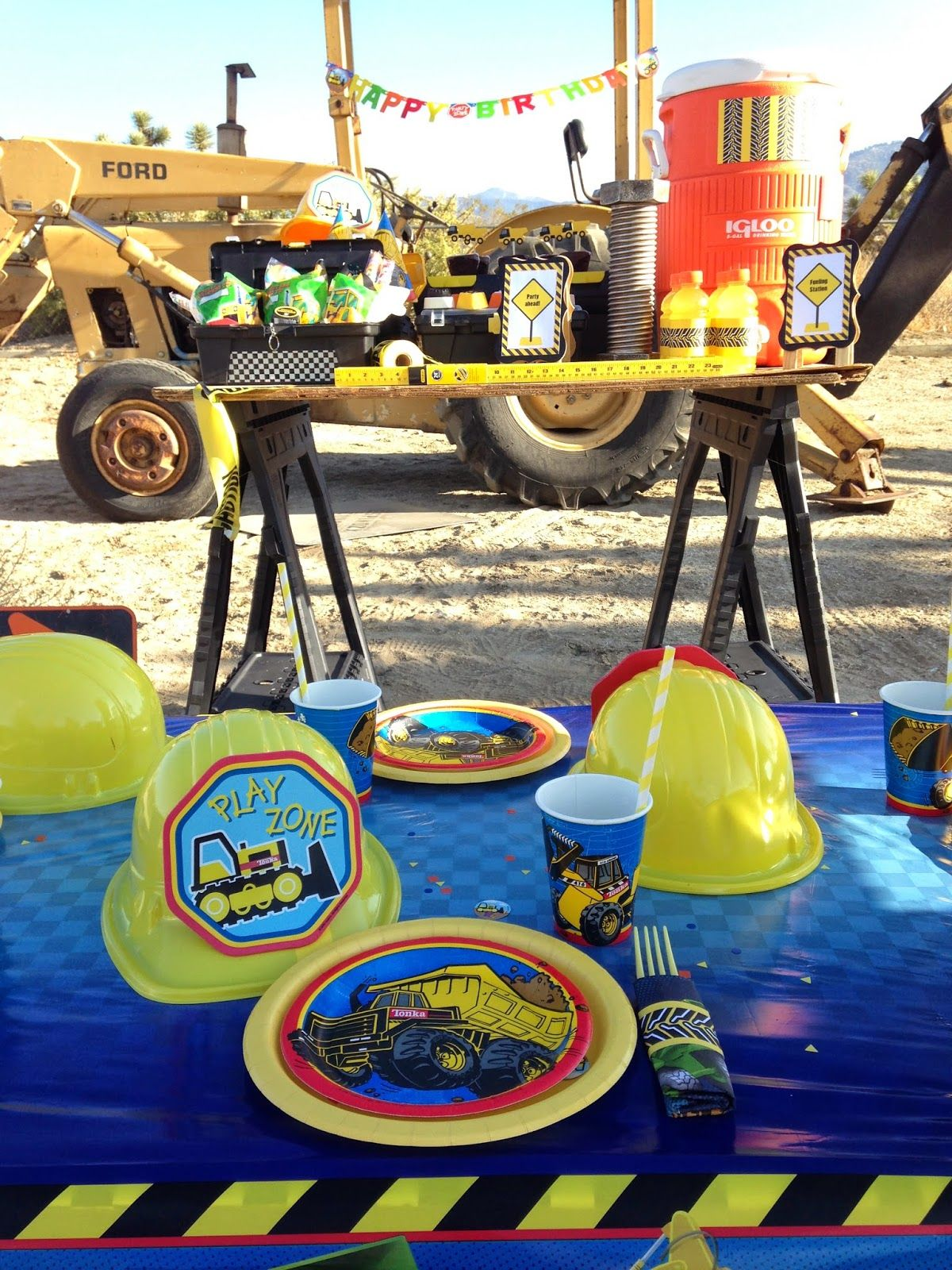 Construction Birthday Party Decorations Lauraslilparty Htfps Tonka Construction Themed Party Ideas Tonka