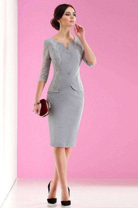 33c12a7d0b79 Women's skirt suit. Suit skirt. Jacket, skirt. Elegant designer suit in the  spirit of modern Parisi