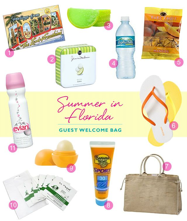 Wedding Gift For Those Who Have Everything: Wedding Welcome Bag: Summer In Florida