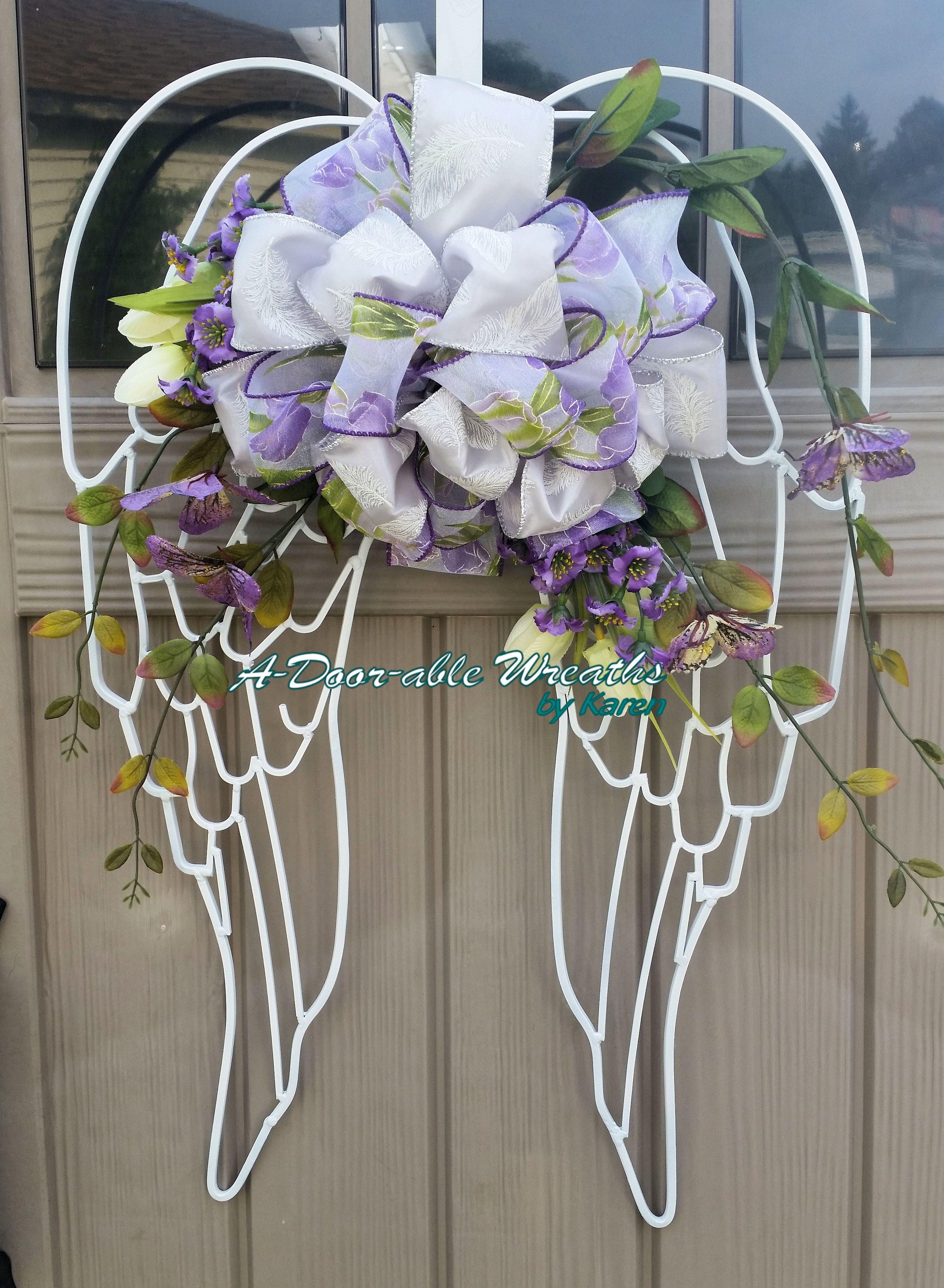 Angel Wings Wreath Angel Wings Decor Memorial Wreath Funeral