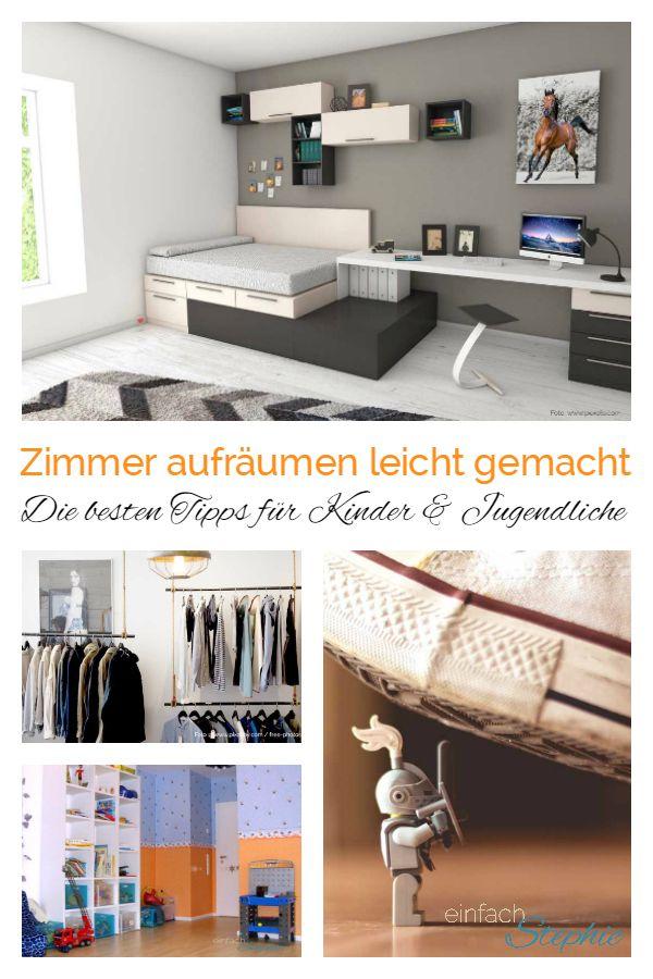 Zimmer aufräumen leicht gemacht. Die besten Tipps für Kinder und Jugendliche von www.einfachstephie.de
