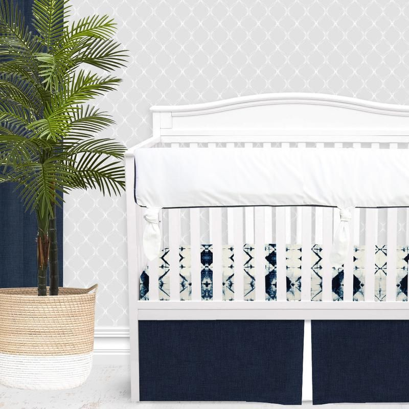 Neutral Crib Bedding Sets, White And Navy Crib Bedding