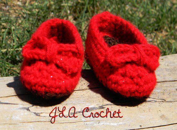 43f087ca47eb Wizard of Oz Ruby Red Slippers Crochet Pattern Newborn