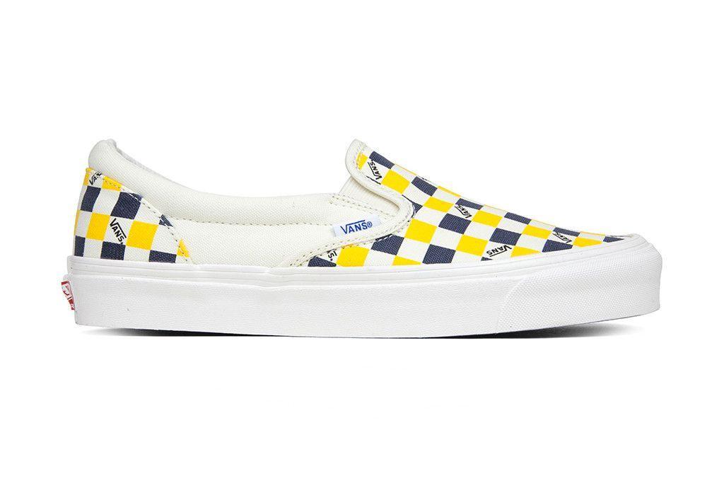 vans vault checkerboard yellow