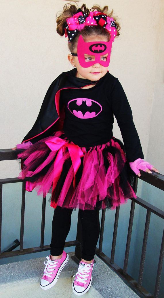 Now Taking Orders Girls Superhero Bat Costume With Mask Cape Top