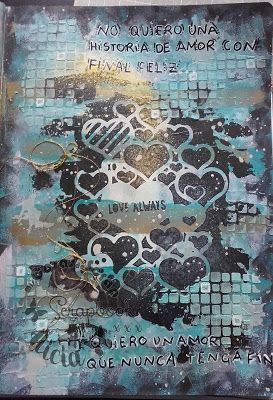 mixed media , art journal Love always