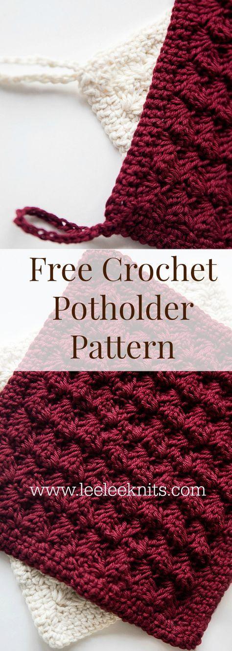 Decorative Potholder Crochet Pattern | Crochet Knitting | Pinterest