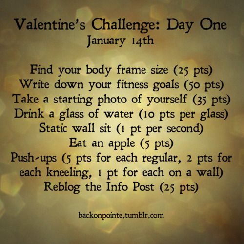 Day One of the Valentine\'s Challenge! Message me by the end of today ...