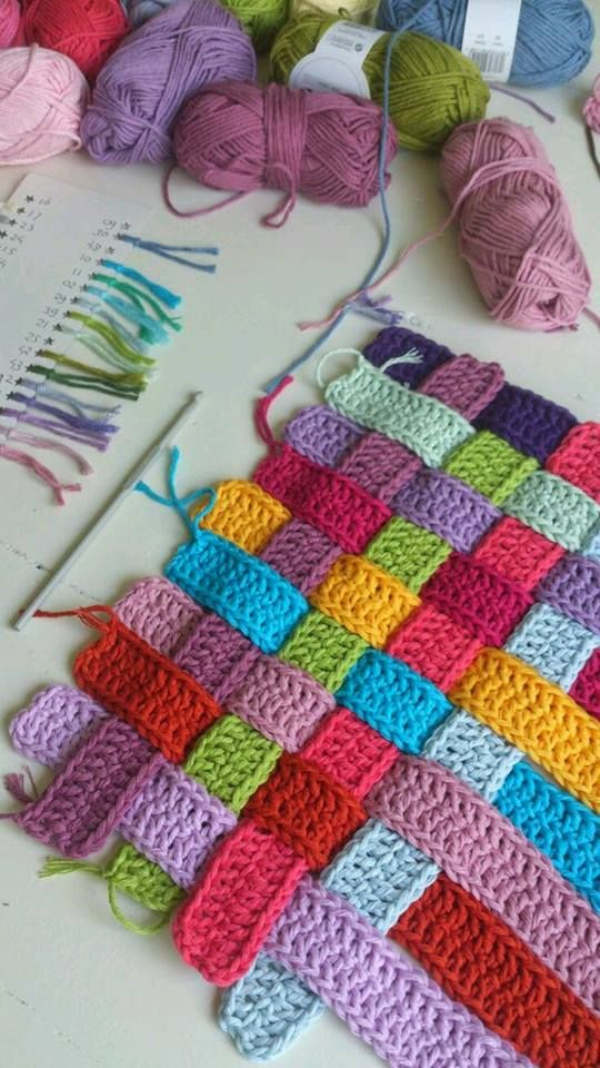 Blanket made interlaced pattern free step by step   Crochet Blankets ...