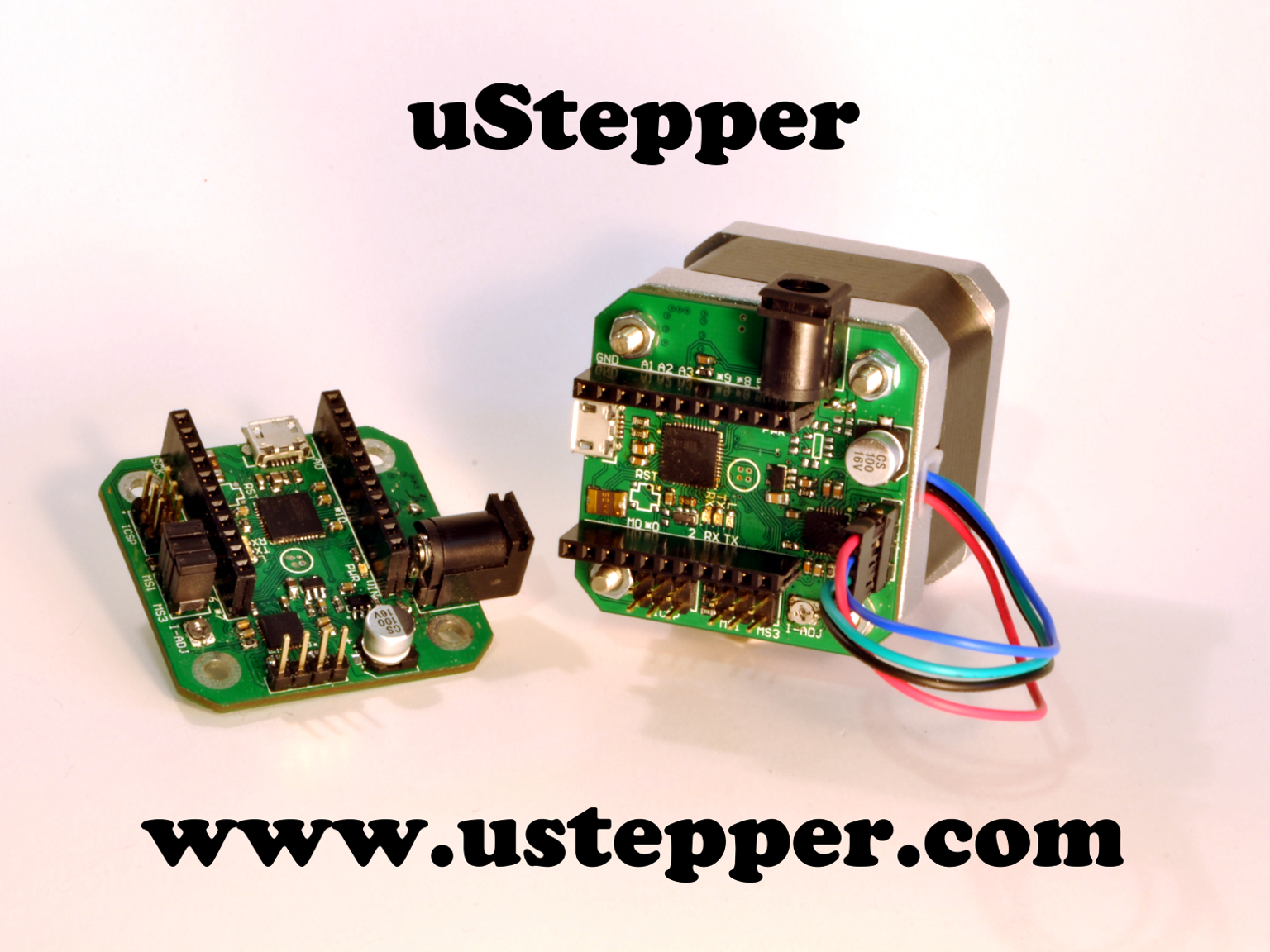 uStepper incorporates microcontroller, stepper driver and