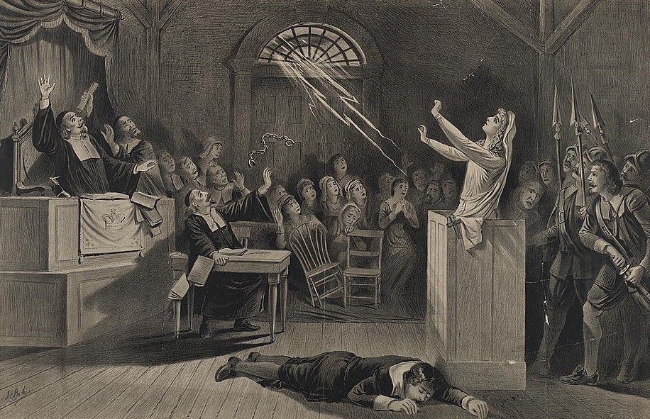 lot 2 halloween salem witch trials court chained witch 13x19 prints ebay - Halloween History Witches
