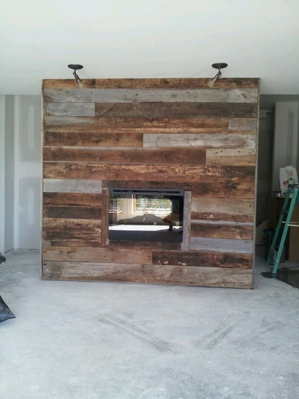 Wood Fireplace barnwood fireplace : faux fireplaces that look real | real barnwood around an electric ...