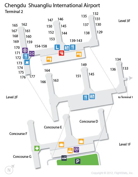 CTU) Chengdu Shuangliu International Airport Terminal Map ...