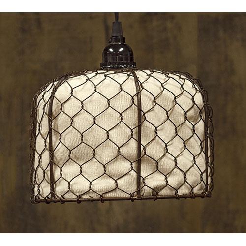 Rustic Farmhouse Chicken Wire Lamp w/Canvas Chicken Wire Lamp w ...