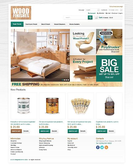 Template 43806 - Wood Finishes Magento Theme | Interior & Furniture ...