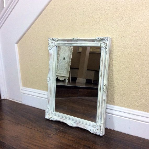 PRETTY WHITE MIRROR White Mirror Nursery Decor by shabbyshores