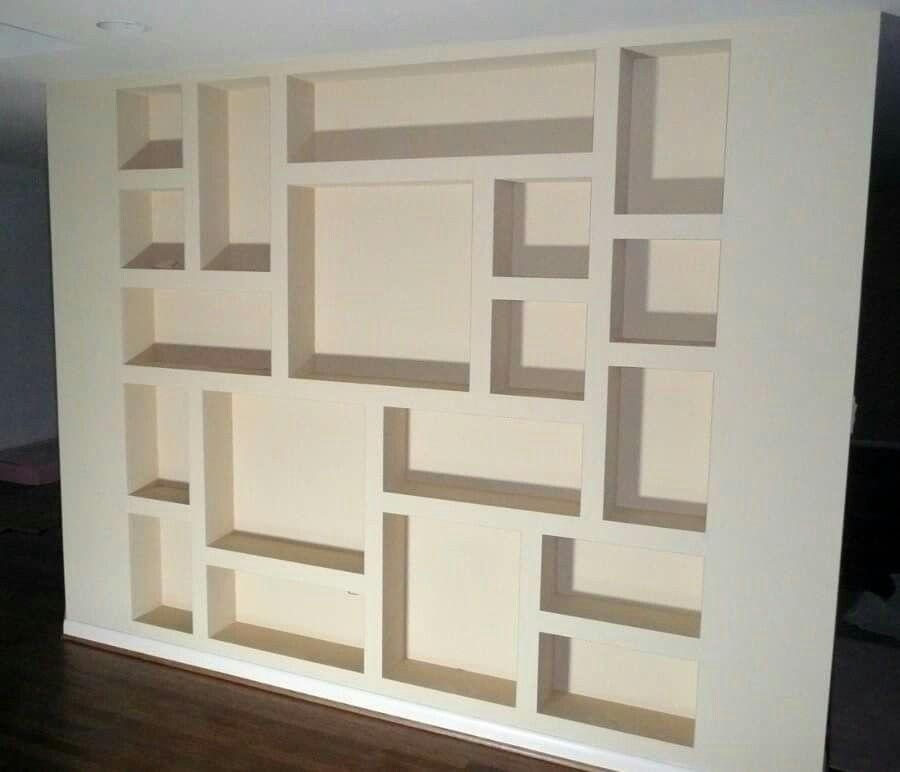 Repisas con tablaroca libreros pinterest repisas for Muebles de oficina ibarra