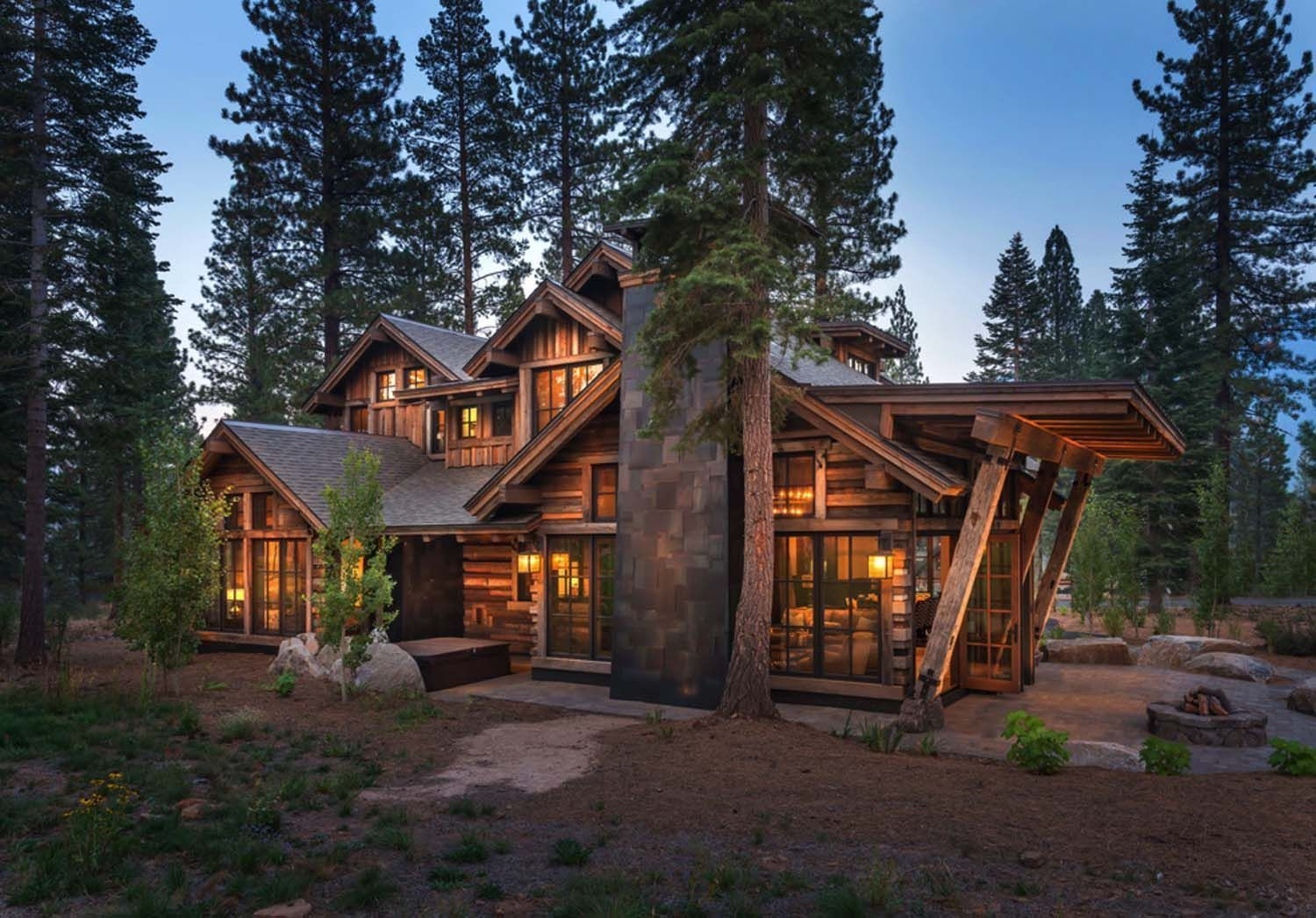 cozy mountain style cabin getaway in martis camp on modern cozy mountain home design ideas id=97684