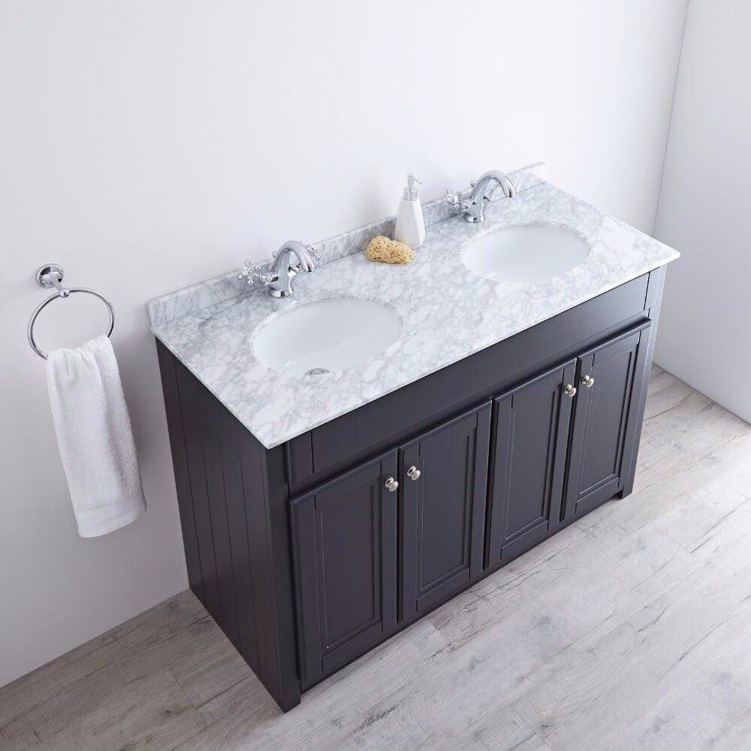 new bathroom images%0A The new Milano Edgworth double vanity unit in an anthracite finish will add  stunning traditional style
