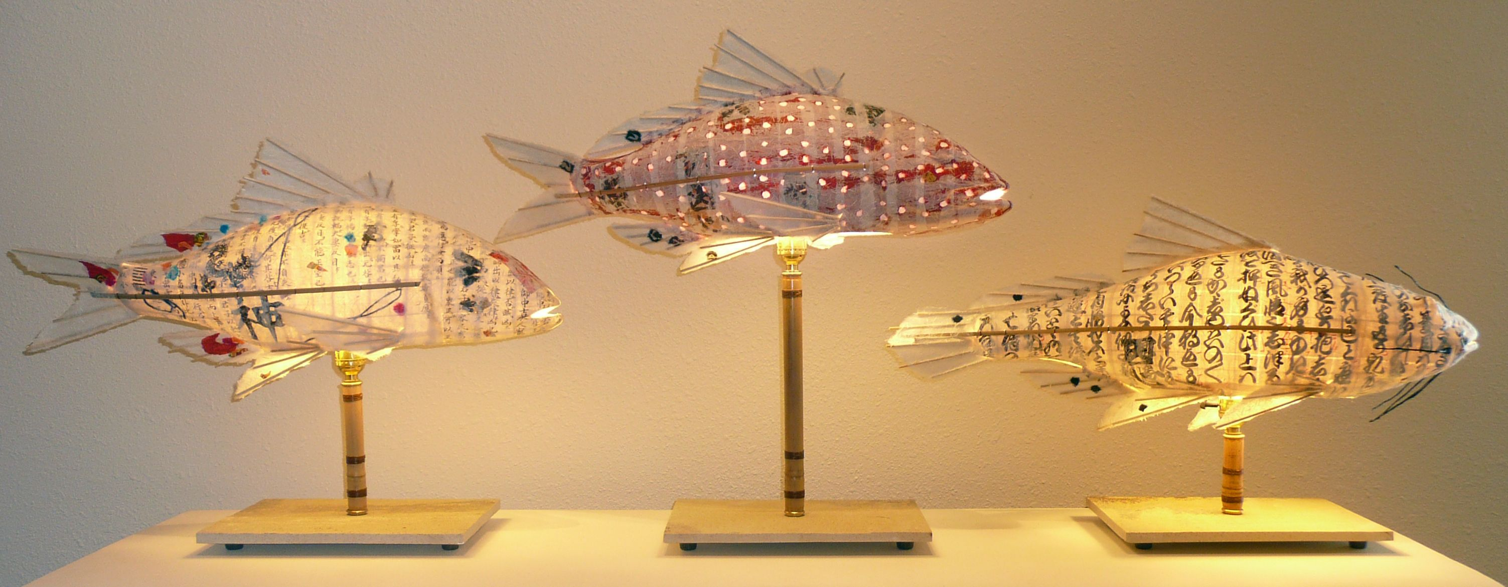 Customized Trio Of Fish Lights Made By Artxchange Artist Elaine