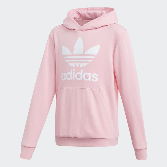 Trefoil Hoodie in 2019 | Adidas trefoil hoodie, Pink adidas