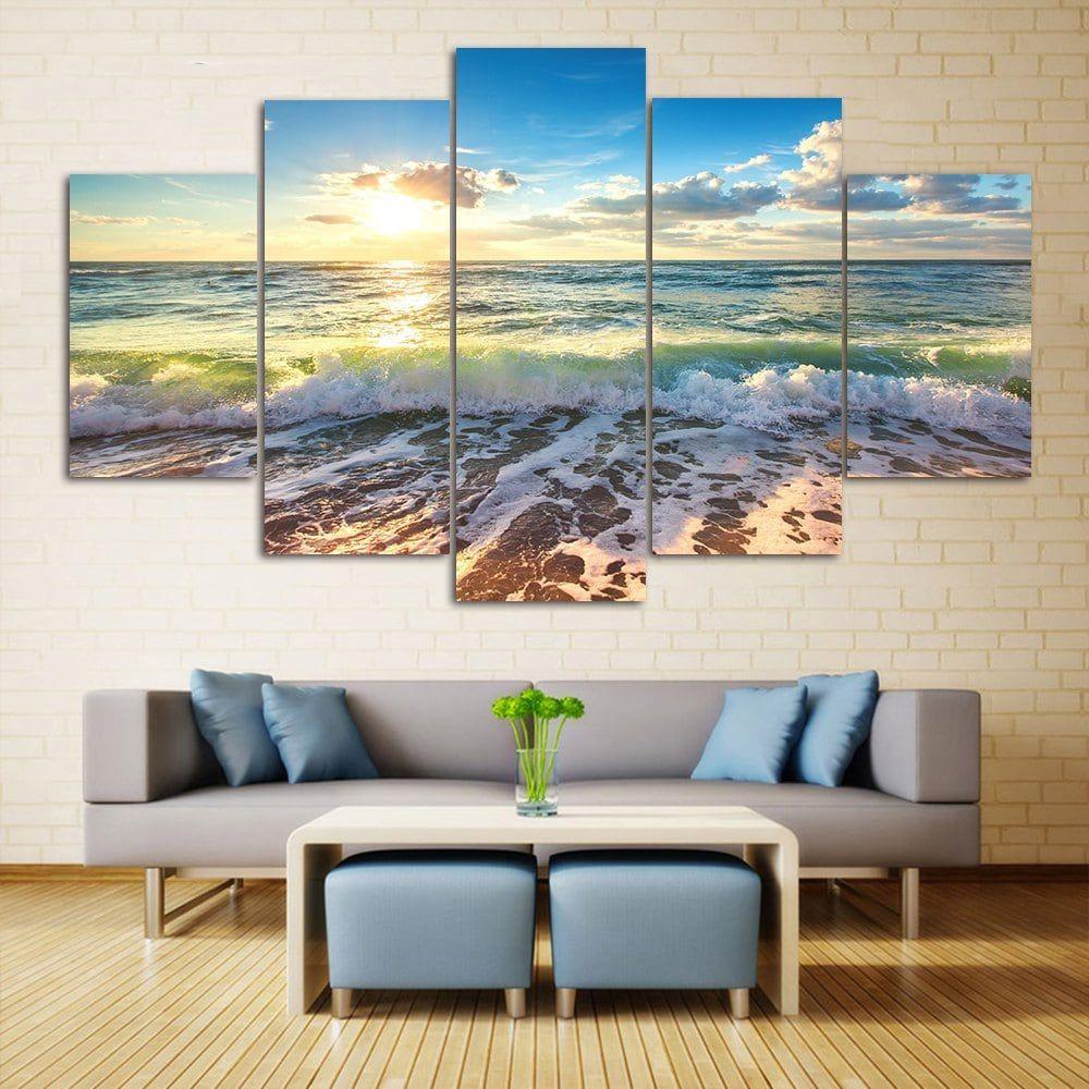 Wall Art Sea Beach Scenery Print Split Canvas Paintings Beach Scenery Wall Art Prints Canvas Painting