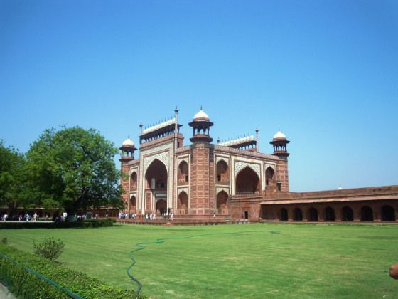 Segundo edifício que vimos ao entrar na área onde se encontra o Taj.