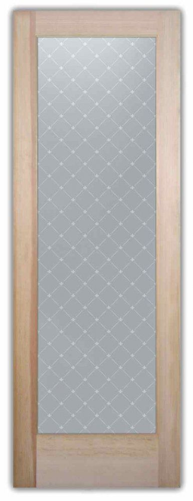Interior Glass Doors Etched Glass Victorian Style Geometric Patterns