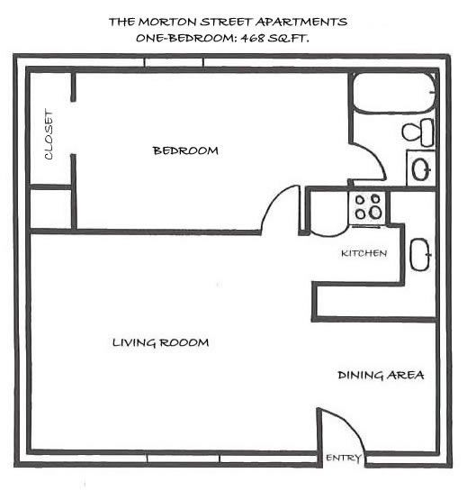 Best One Bedroom House Plans Apartment Rentals Morton Street - One 1 bedroom floor plans and houses