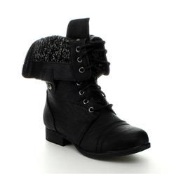Top Moda Rice 60 Women S Military Lace Up Fold Able Combat Boots Sears Boots Black Boots Women Fashion Boots