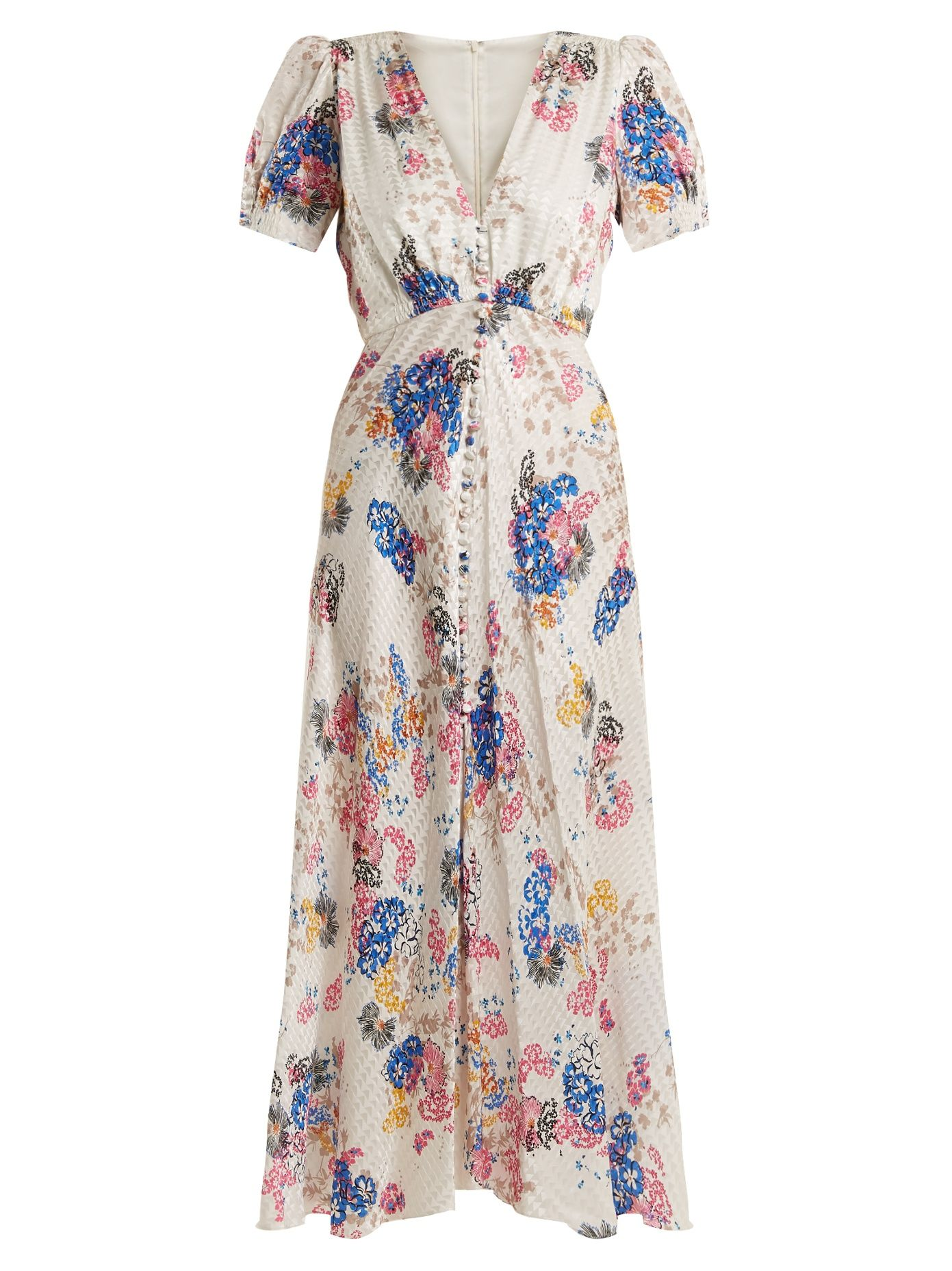 Saloni Woman Lace-up Floral-print Crepe Mini Dress Black Size 4 Saloni TYJy4
