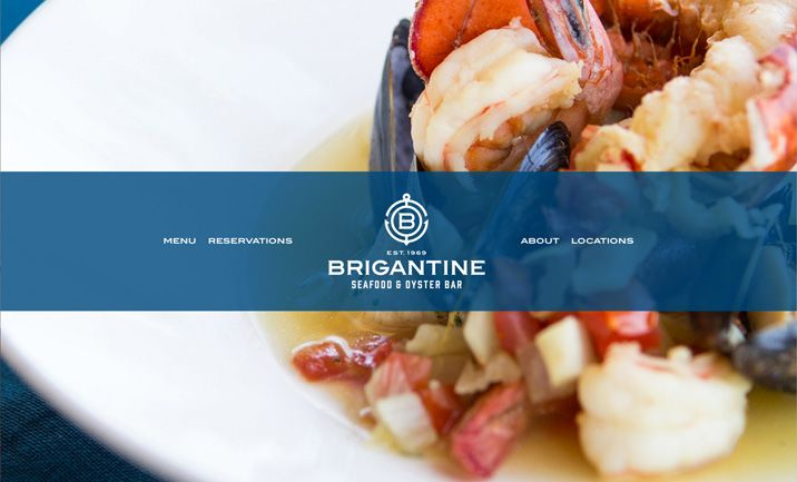The Brigantine restaurant website design