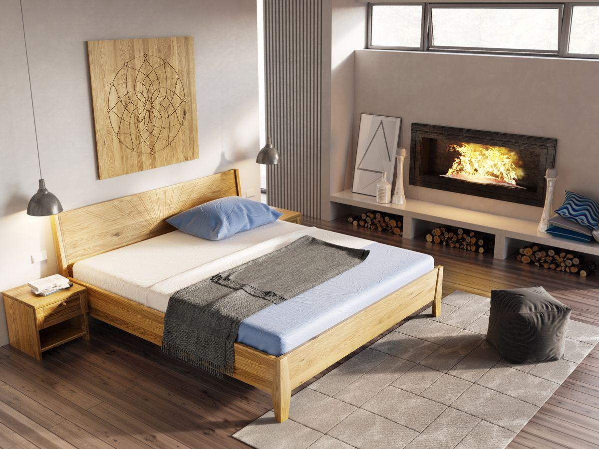 Massivholzbett Schwebend Bett Selber Bauen Balken Bild Bett Massiv