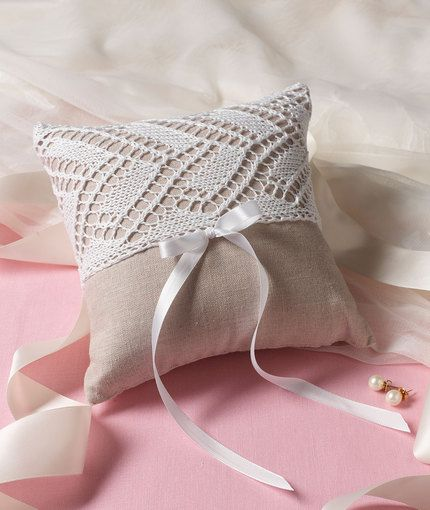 Ring Bearer\'s Pillow - Free knitting pattern but easy to create ...