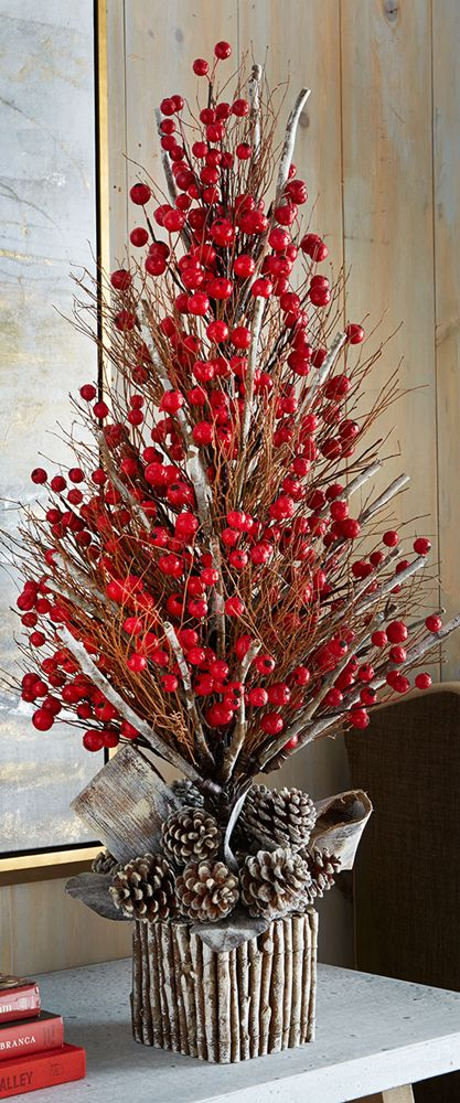 red berry christmas tree - Red Berry Christmas Tree Decorations