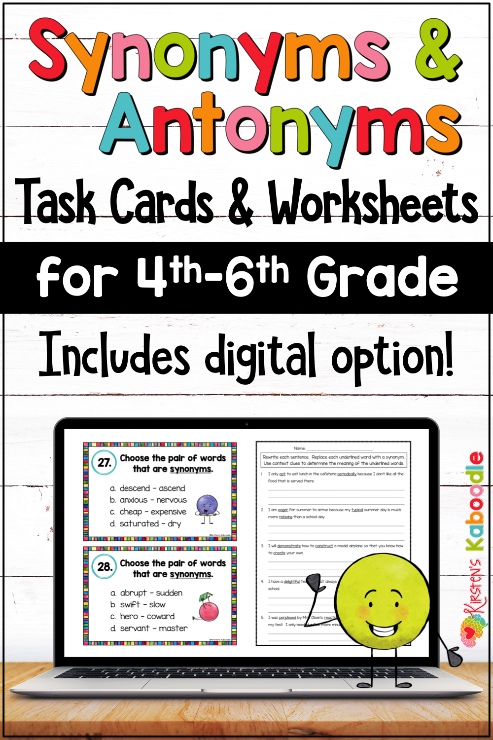 hight resolution of Synonyms and Antonyms Activities for Upper Grades with Digital Distance  Learning Option   Synonyms and antonyms
