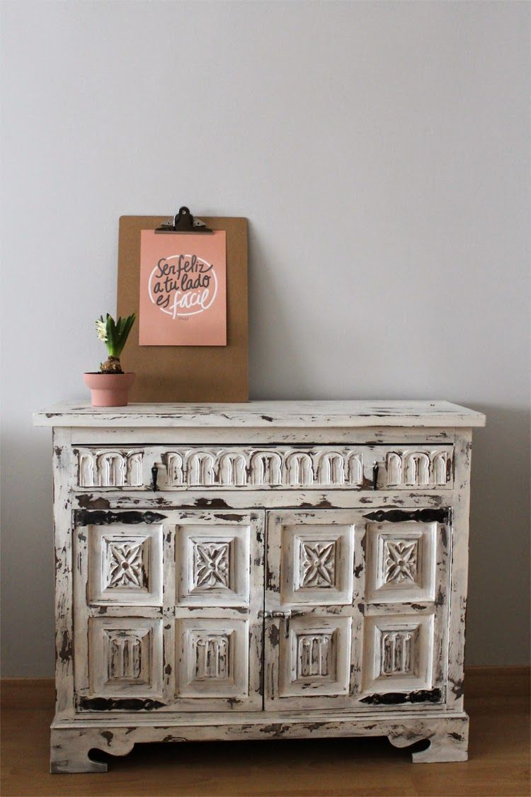 Mi mueble decapado con chalkpaint home sweet home pinterest - Sweet home muebles ...