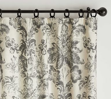 Thea Floral Printed Pillow Covers Pottery Barn In 2020 Printed Curtains Grey Curtains Paisley Curtains