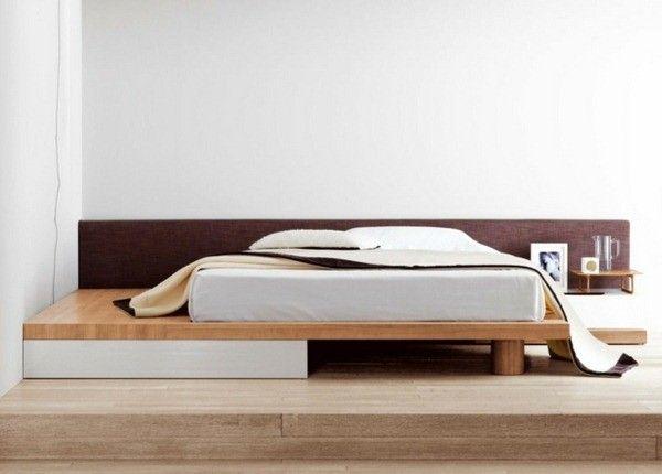 cadre en bois de cadre de lit l gant bed deux couleurs en bois moderne lit chambres en 2018. Black Bedroom Furniture Sets. Home Design Ideas