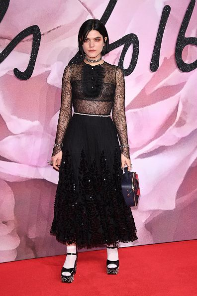 Soko walks the red carpet for the British Fashion Awards 2016 on December 5 2016 in London England