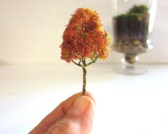 Scharfe Herbst...miniatur Baum Terrarium Zubehör Realistische ... Garten Im Herbst Tipps Ideen