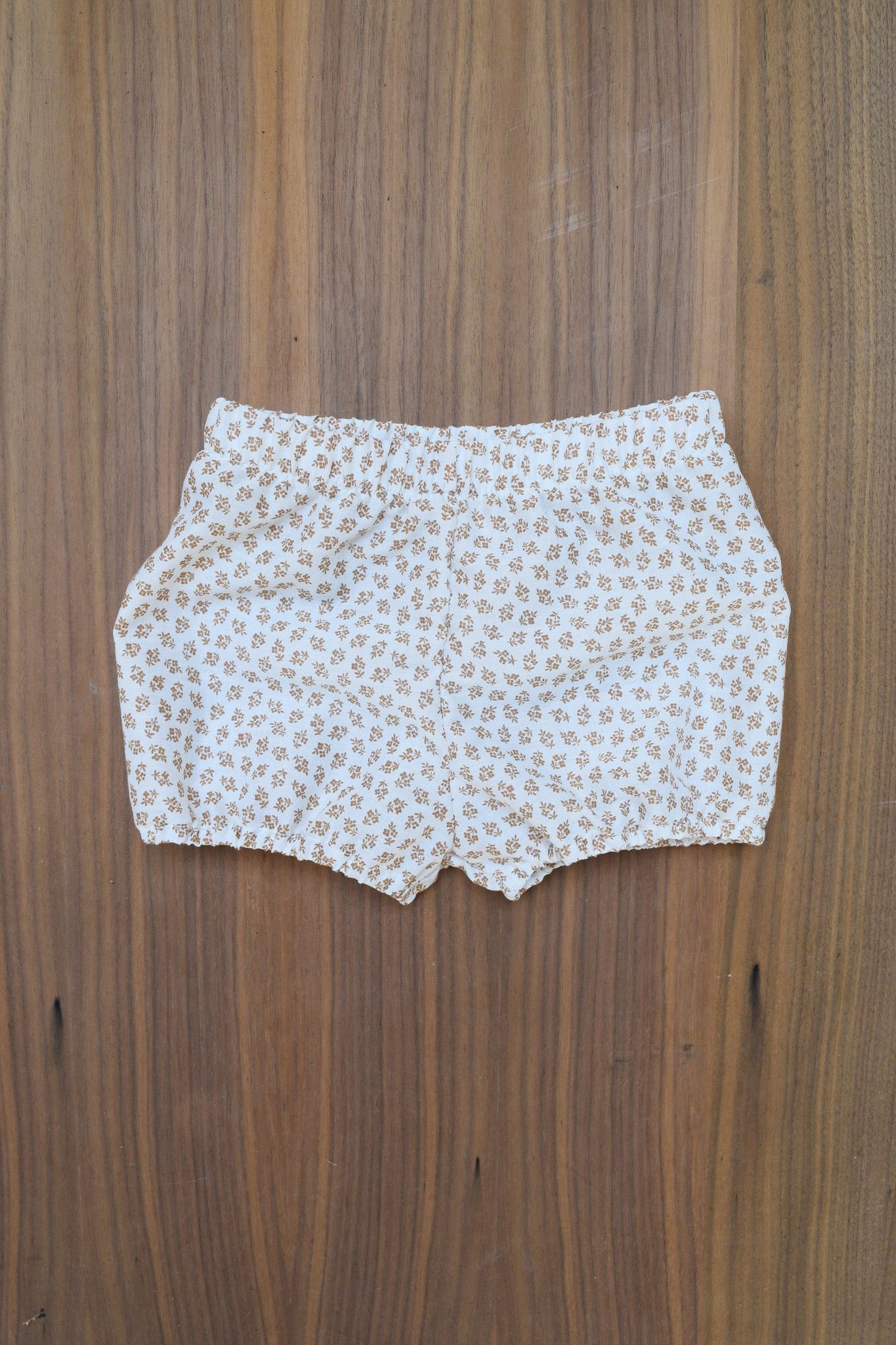 the Vintage Floral Bloomers in White