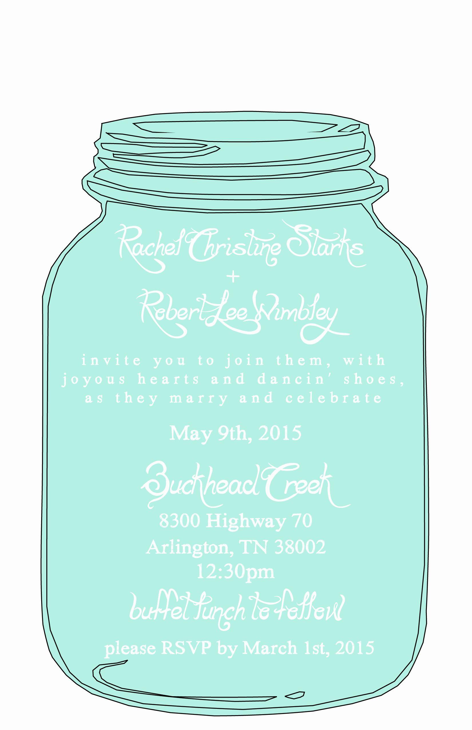 Mason Jar Wedding Invitation Template Fresh Mason Jar Free