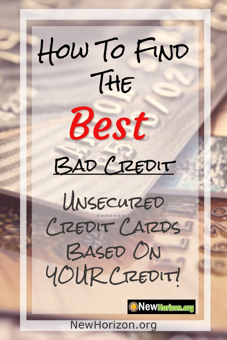 Unsecured Credit Cards For People With Credit Problems