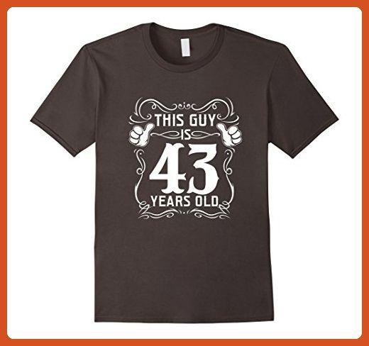 Mens Cool T Shirt For 43 Years Old Best Birthday Gift Men Large Asphalt